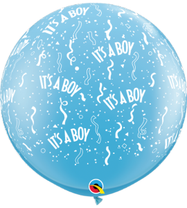 Sky Blue Balloon Round