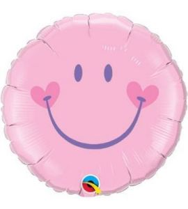 Smiley Pink Balloon