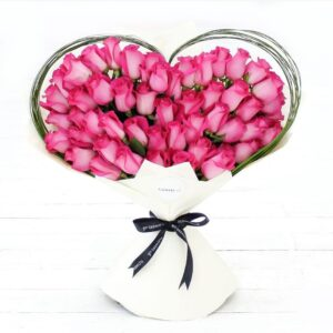 Pink Heart Bouquet