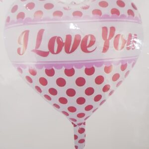 I Love You Polka Dots Heart Balloon